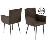 Židle Monaco - tmavě hnědá, Moderní (50/91/59cm)