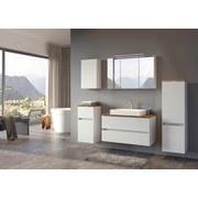 Unterschrank mit Soft-Close Pienza B: 40cm Weiß - Silberfarben/Weiß, Basics, Holzwerkstoff (40/79/35cm) - Livetastic