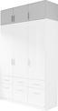 Nástavec Na Šatní Skříň Ke 3-dv. Skříni Celle - bílá, Moderní, dřevo (136/40/54cm)