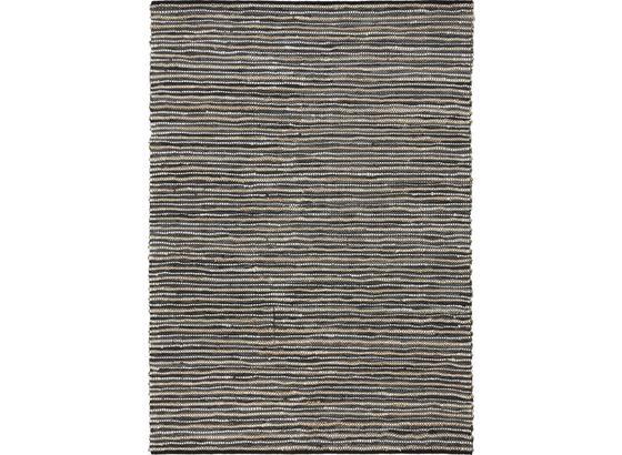 Ručné Tkaný Koberec Stefan - antracitová, Moderný, koža/textil (160/230cm) - Mömax modern living