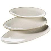 Platte Nottingham 3er-Set - Beige, Basics, Keramik (21,5/35/8cm) - Mäser