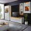Vitrína Leonardo - farby dubu/biela, Moderný, kompozitné drevo/sklo (100/201/40cm) - Modern Living