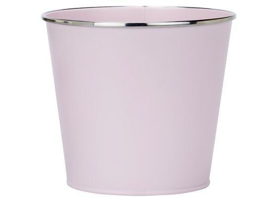 Květináč Poppyseed - růžová, kov (15/13,5cm)