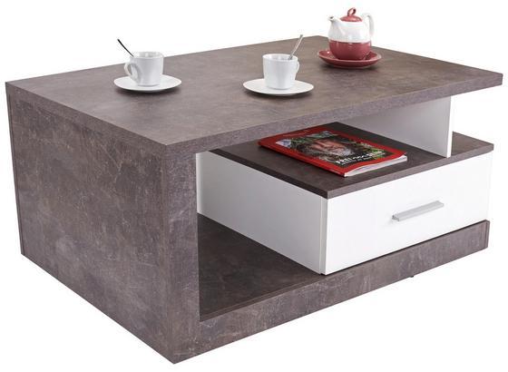 Konferenční Stolek Iguan - šedá/bílá, Moderní, kompozitní dřevo (110/45/67cm)