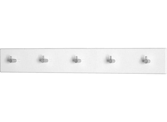 Lišta S Háčky Eddy 5 - bílá, Moderní, kov/dřevo (57/8/5cm)