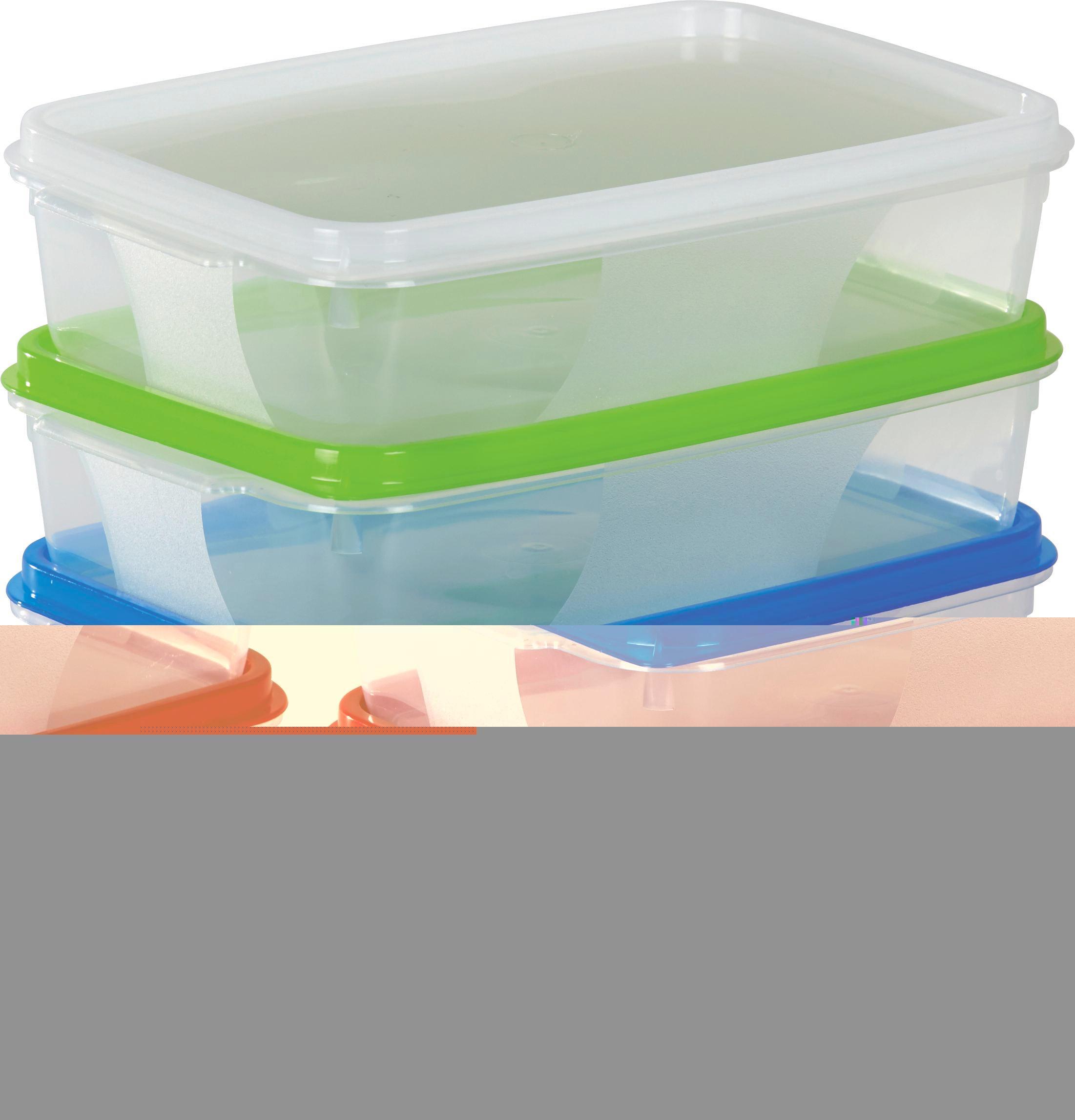 Frissentartó Doboz Color - natúr színek/piros, konvencionális, műanyag (12/5/18cm)