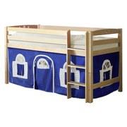 Hochbett Timmy R 90x200 cm Blau / Weiß - Blau/Weiß, Natur, Holz (90/200cm) - MID.YOU