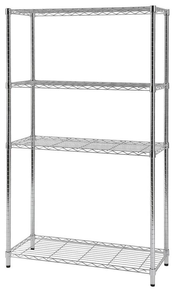 Regál Metall 1 - barvy chromu, Moderní, kov (90/151,5/35cm)