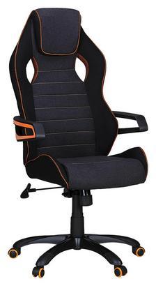 Gamingstuhl in Schwarz mit orangen Highlights