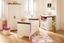 Přebalovací Komoda Provence - tmavě hnědá/krémová, Konvenční, dřevěný materiál (98/107,5/78cm)