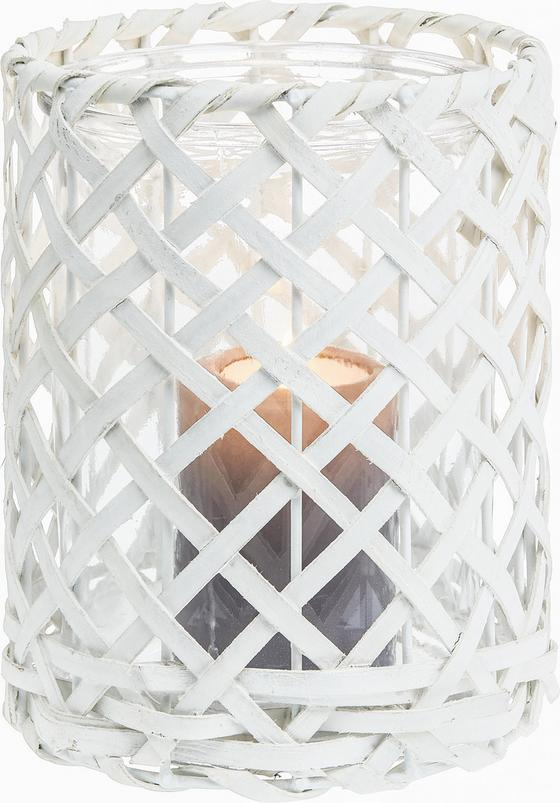 Svíčka Ve Skle Antonia - bílá, dřevo/sklo (11,5/11,5cm) - Mömax modern living