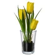Kunstpflanze Frühjahrsblüher 'bibi' Sort - Gelb/Rosa, Basics, Kunststoff (16cm)