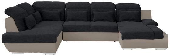 Sedací Souprava Multi - černá/pískové barvy, Moderní, textil (228/345/184cm)
