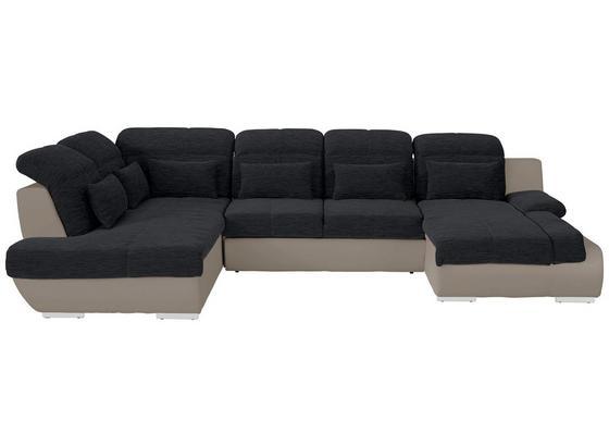 Sedací Souprava Multi - černá/pískové barvy, Moderní, textilie (228/345/184cm)
