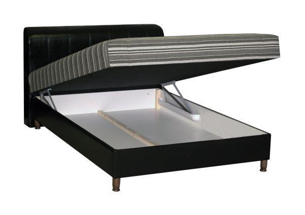 Kárpitozott Ágy Safari - bézs/fekete, romantikus/Landhaus, textil (140/200cm)