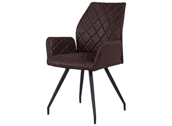 Karfás Szék Wendy - Sötétbarna/Fekete, konvencionális, Fém/Textil (56/90/61cm) - James Wood