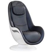 Massagesessel Rs650 Schwarz, Weiß - Schwarz/Weiß, Basics, Leder (105/90/60cm)