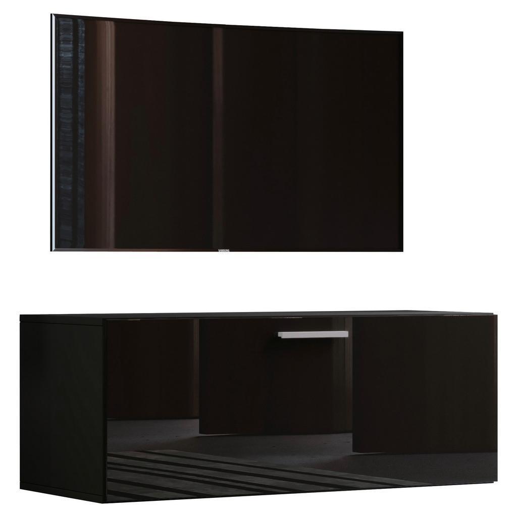 Tv - skrinka Fernso Š: 95 Cm Čierna Vysoký Lesk