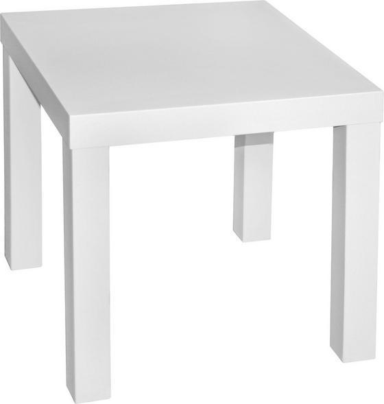 Odkladací Stolík Normen *cenovy Trhak* - biela, Moderný, drevený materiál (39/40/39cm)