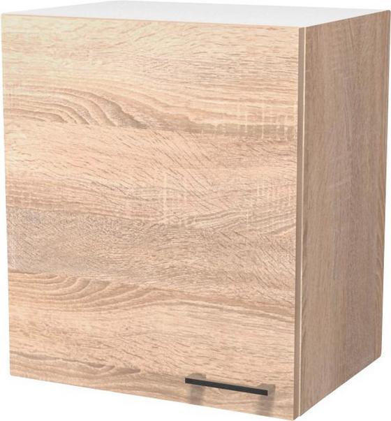 Kuchyňská Horní Skříňka Samoa  H 50 - bílá/barvy dubu, Konvenční, dřevěný materiál (50/54/32cm)