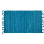 Handwebteppich Annika - Türkis, Textil (70/120cm) - Ombra