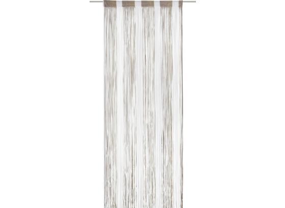 Nitkový Záves String - hnedá/sivá, textil (90/245cm) - Premium Living
