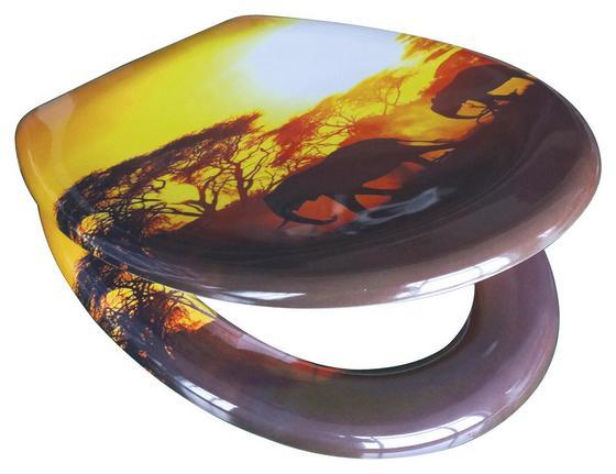 WC-Sitz Duroplast Africa - Gelb/Braun, MODERN, Kunststoff (37,4/45,3cm)