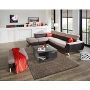 Wohnlandschaft Upgrade - Chromfarben/Beige, MODERN, Textil (233/280cm)