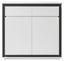 Highboard Durban B:120cm Weiß Matt/ Beton Dekor - Weiß/Grau, MODERN, Holzwerkstoff (120/114/40cm)