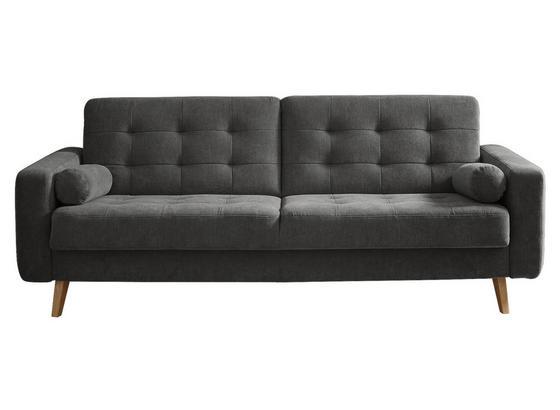 Schlafsofa Fjord B: ca. 222 cm Grau/Stone - Schlammfarben/Eichefarben, MODERN, Holzwerkstoff/Textil (222/86/90cm) - Carryhome