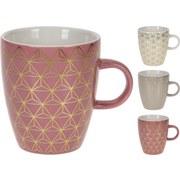 Kaffeebecher Juliette - Goldfarben/Altrosa, KONVENTIONELL, Keramik (0,22l)