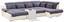 Sedací Souprava Multi - šedá/krémová, Moderní, textilie (184/345/228cm)
