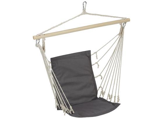 Závěsné Křeslo Relax - šedá/modrá, dřevo/textil (100/47cm) - Mömax modern living