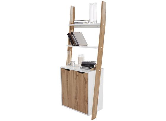 Regál Flo Wotan/biela - farby dubu/biela, Moderný, kompozitné drevo (65/176/34,2cm)