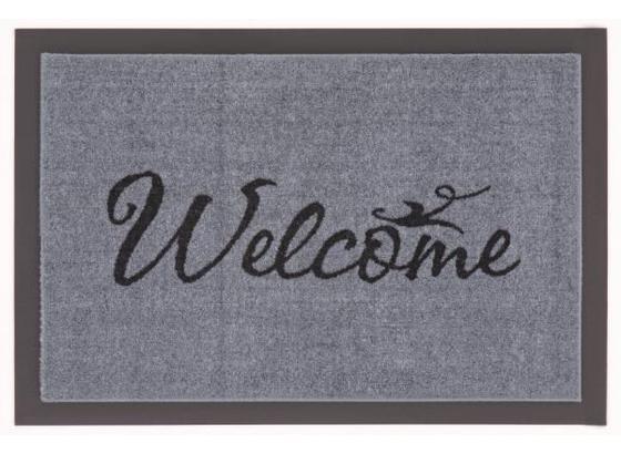 Fußmatte Welcome 40x60 cm - Schwarz/Grau, KONVENTIONELL, Textil (40/60cm)