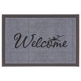 Fußmatte Welcome - Schwarz/Grau, KONVENTIONELL, Textil (40/60cm) - MÖBELIX