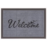 Fußmatte Welcome - Schwarz/Grau, KONVENTIONELL, Textil (40/60cm)