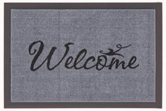 Lábtörlő Welcome - Szürke/Fekete, konvencionális, Textil (40/60cm)