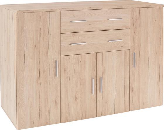 Komoda Trio - barvy dubu, Moderní, dřevěný materiál (152/107/50cm)