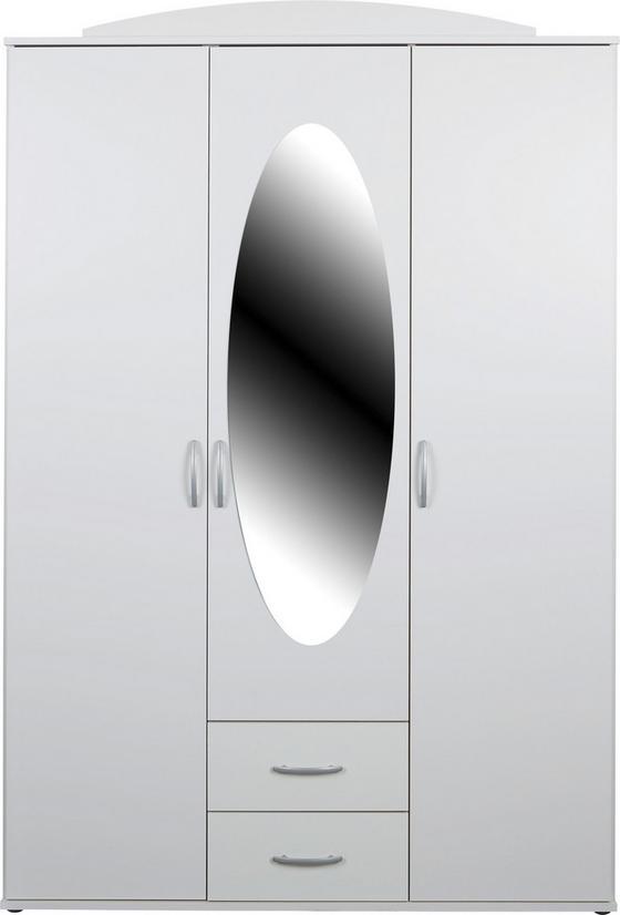 Ruhásszekrény Touch 3 - fehér, romantikus/Landhaus, faanyagok (127/196/52cm)