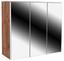 Skrinka So Zrkadlom Avensis 311 - farby dubu/číra, Moderný, kompozitné drevo/sklo (90 73 20,5cm) - Luca Bessoni