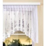 Blumenfensterstore Andrea Halbtransparent BxL: 450x145cm - Weiß, KONVENTIONELL, Textil (450/145cm) - Ombra