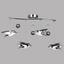 LED-Deckenleuchte Vogel - MODERN, Kunststoff/Metall (80/22/48cm)
