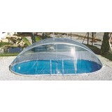 Pooldach Cabrio Dom - Transparent, Basics, Kunststoff (370/610cm)