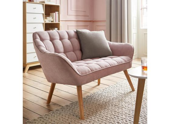 Pohovka Monique - ružová, Moderný, drevo/textil (127/76/74,5cm) - Mömax modern living