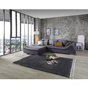 Wohnlandschaft In L-Form Boom 207x302 cm - Dunkelgrau/Anthrazit, Basics (207/302cm) - Ombra
