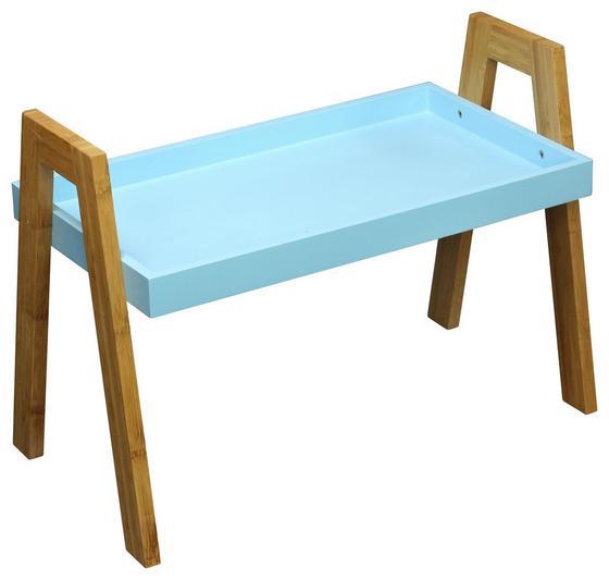 Beistelltisch Scandi Blau - Blau/Naturfarben, MODERN, Holz/Holzwerkstoff (62,5/45/32cm) - Ombra