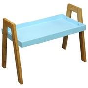 Beistelltisch Scandi - Blau/Naturfarben, MODERN, Holz/Holzwerkstoff (62,5/45/32cm) - Ombra