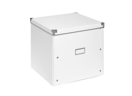 Uskladňovací Box Lorenz - biela, kartón/kov (33/33/31cm) - Mömax modern living