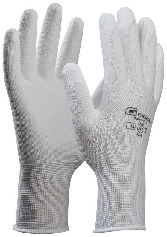 Microflexhandschuhe Gr. 10 - Weiß, KONVENTIONELL, Textil (10) - Gebol
